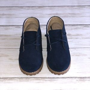 Janie and Jack Navy Suede Boots - Size 7 Toddler